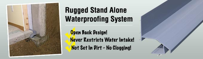 basement waterproofing system, drain, system, waterproofing, basement, foundation repair, foundation solutions, foundation problems
